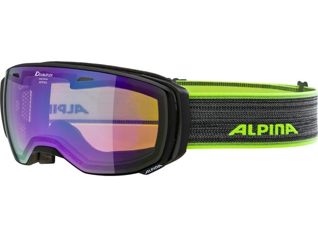 Alpina Estetica MM Goggle black matt green spherical